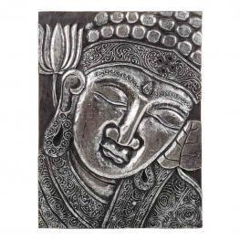 Panel Budha Madera En Plata