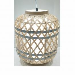 Lampara de Techo de Bambú