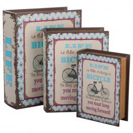 Libro Caja de Madera Impresa Set 3