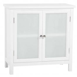 Mueble Recibidor Madera - Dm + Paulownia + Cristal