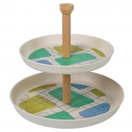 Platos Pasteleros de Bambu Set 2