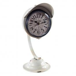 Reloj de Mesa de Forja En Blanco - Forja + Tapa  Plastico