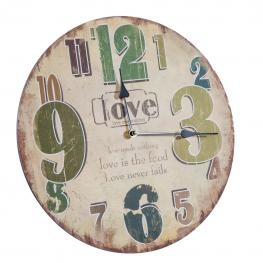 Reloj de Pared de Madera Mdf y - Mdf