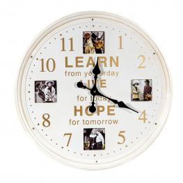 Reloj Pared Portafotos - Madera Dm