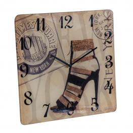 Reloj Pared - Vidrio + Vinilo