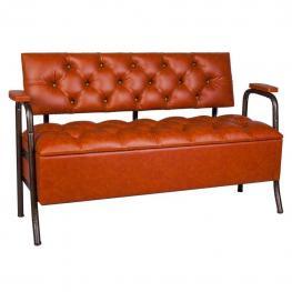 Sofa Baul de Polipiel Camel Con