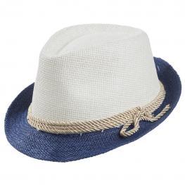 Sombrero Fedora Bicolor Con
