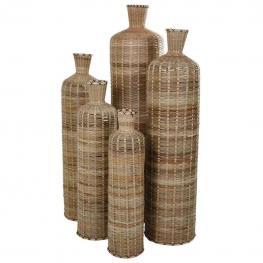 Botellas Bambu Natural Set 5