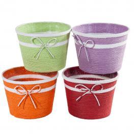 Cestos Colores Surtidos Set 4 - Cuerda Con Armazon de