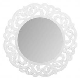Espejo de Madera Lacado Blanco y