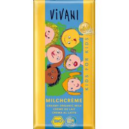 Chocolate Con Leche Para Niños 100 Gr Bio