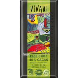 Chocolate 40% Vegano Bebida Arroz 100 Gr Bio