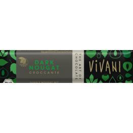 Chocolatina Vegana Choco Negro Crujiente Avellana 35 Gr Bio