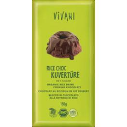 Cobertura Chocolate Bebida Arroz 150 Gr Bio