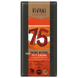 Chocolate Negro Panama 75% Vegano Cacao 80G Bio