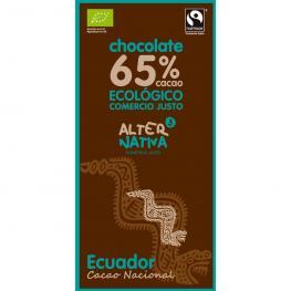 Chocolate Ecuador 65% Cacao 80 Gr Bio