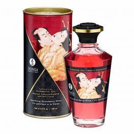 Aceite Con Efecto Calor Con Aroma de Fresas (100 Ml) Shunga 22088