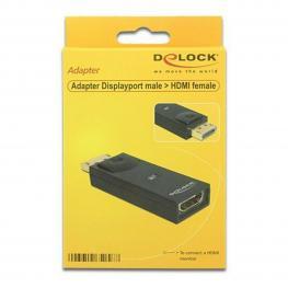 Adaptador Displayport A Hdmi Delock 65258 Negro