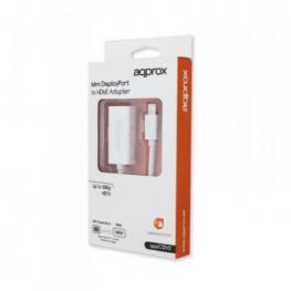 Adaptador Mini Display Port A Hdmi Approx! Appc12V2 Blanco