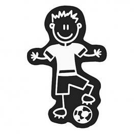 Adhesivo Para Coche Family Hombre Balón de Fútbol