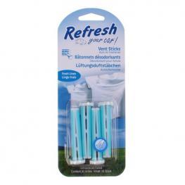 Ambientador Para Coche California Scents Vent Sticks Fresh Linen Azul (2 Uds)