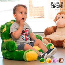 Asiento-Cojín Infantil de Peluche Animales Junior Knows