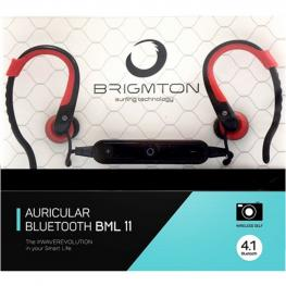 Auriculares Bluetooth Con Micrófono Brigmton Bml-11-R Rojo