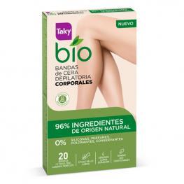 Bandas Depilatorias Corporales Bio Natural Taky (20 Uds)