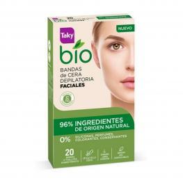 Bandas Depilatorias Faciales Bio Natural Taky (20 Uds)