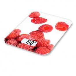 Báscula Digital de Cocina Beurer Ks 19 Berry 5 Kg Blanco Rojo