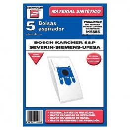 Bolsa de Recambio Para Aspiradora Tecnhogar 915686 (5 Uds)