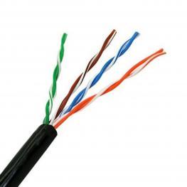 Cable de Red Rígido Utp Categoría 5E Nanocable 10.20.0302-Ext-Bk 100 M Negro