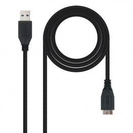 Cable Usb 3.0 A A Micro Usb B Nanocable 10.01.110-Bk Negro