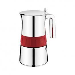 Cafetera Italiana Bra Elegance Red (10 Tazas)