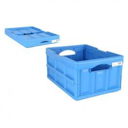 Caja de Almacenamiento Ursus Tontarelli 32 L Plegable Azul (47,5 X 35,2 X 23 Cm)