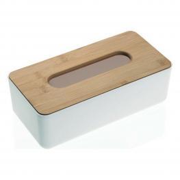 Caja Para Pañuelos Bambú