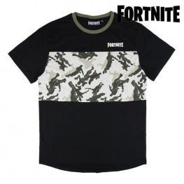 Camiseta de Manga Corta Infantil Fortnite Negro