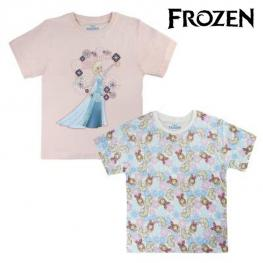 Camiseta de Manga Corta Infantil Frozen 72680 Azul Cielo