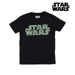 Camiseta de Manga Corta Infantil Star Wars Negra