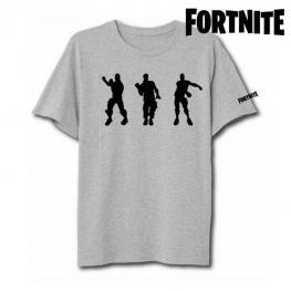 Camiseta de Manga Corta Unisex Fortnite 75062 Gris