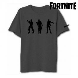 Camiseta de Manga Corta Unisex Fortnite 75063 Gris