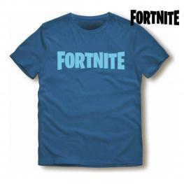 Camiseta de Manga Corta Unisex Fortnite Azul