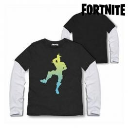 Camiseta de Manga Larga Niño Fortnite 75065 Negro
