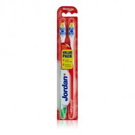 Cepillo de Dientes Total Clean Medium Jordan (2 Uds)