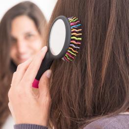 Cepillo de Pelo Con Espejo Arco Iris Primizima