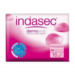 Compresas Para Incontinencia Dermoseda Micro Plus Indasec (16 Uds)