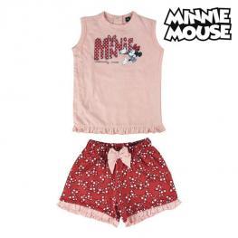 Conjunto de Ropa Minnie Mouse Rojo Rosa