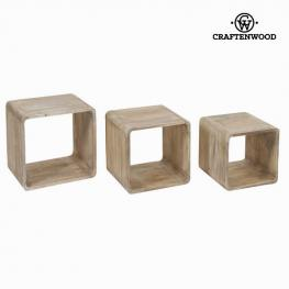 Cubos Madera de Mindi (3 Pcs) - Colección Pure Life By Craftenwood