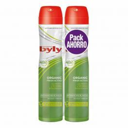 Desodorante En Spray Organic Extra Fresh Byly (2 Uds)