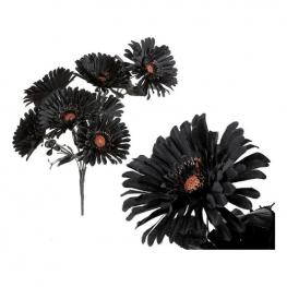 Flores Decorativas Halloween Negra